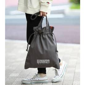 UNIVERSAL OVERALL/ユニバーサルオーバーオール別注2WYA巾着バッグ (チャコールグレー)