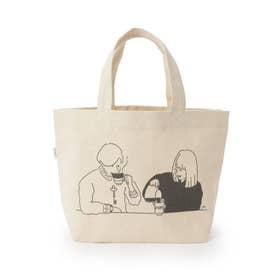【KEY COFFEEコラボ】ランチボックストートバッグ (ホワイト)