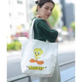 【WEB限定】Looney Tunes/ルーニー・テューンズ別注キャンバストート (ホワイト×トゥイーティー)