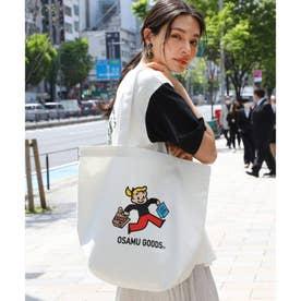 【WEB限定】OSAMU GOODS/オサムグッズ別注キャンバストート (ホワイト×ホワイト)