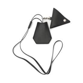 エコレザーキーケースストラップ (ブラック)