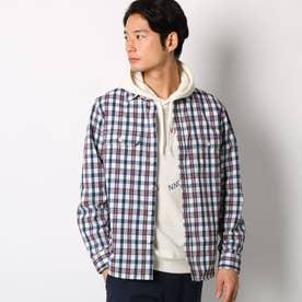 【吸水速乾】シアサッカーCPOシャツアウター (レッド)