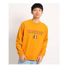刺繍ロゴスウエット (ダークオレンジ(068))