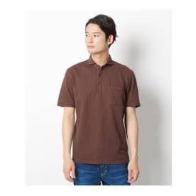 【クールビズ】サッカーポロシャツ (ブラウン(042))