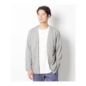 【吸水速乾】麻見えノーディガン (グレー(012))