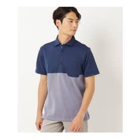 【クールビズ】配色デザインポロシャツ (ブルー(592))