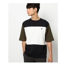 KANGOL/カンゴール別注切替Tシャツ (カーキ)
