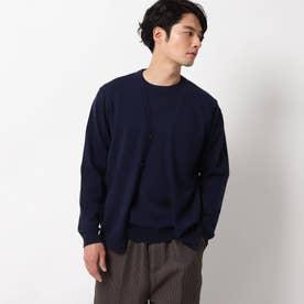 【抗菌防臭】ドレスニットカーディガン (ネイビー)