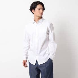 ピンオックスワイドカラーシャツ (オフホワイト)