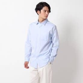 ピンオックスワイドカラーシャツ (サックス)