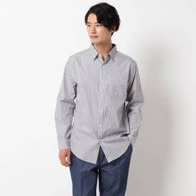 ピンオックスワイドカラーシャツ (ダークグレー)