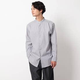 ピンオックスバンドカラーシャツ (ダークグレー)