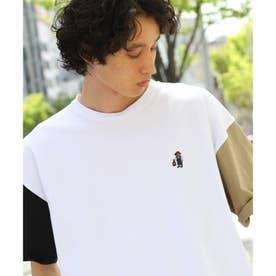 【WEB限定】ソロCAMP/ソロキャンプランタン刺繍ビックシルエットTEE (ホワイト×ホワイト)