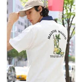【WEB限定】ビックシルエットモヒートバック刺繍TEE (ホワイト)