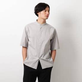 タイプライターバンドカラーシャツ (グレー)