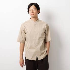 タイプライターバンドカラーシャツ (ベージュ)