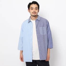 クレイジーストライプシャツ (ブルー)