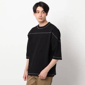 コットンヘンプフットボールTシャツ (ブラック)