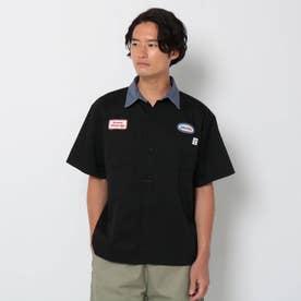 【WEB限定】BIGBILL/ビックビル別注ビックシルエットクレリックカラーワークシャツ/セットアップ対応可 (ブラック)