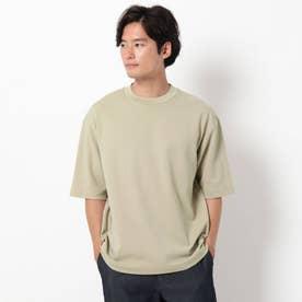 【吸水速乾・快適さらさら】【WEB限定サイズあり】AIR DRY ビッグシルエット5分袖Tシャツ (ベージュ)