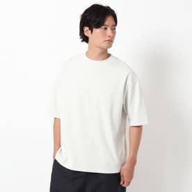 【吸水速乾・快適さらさら】【WEB限定サイズあり】AIR DRY ビッグシルエット5分袖Tシャツ (オフホワイト)