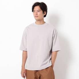 【吸水速乾・快適さらさら】【WEB限定サイズあり】AIR DRY ビッグシルエット5分袖Tシャツ (ライトパープル)