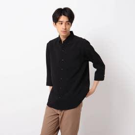 【イージーケア】Reflax(R)/リフラックス7分袖シャツ (ブラック)