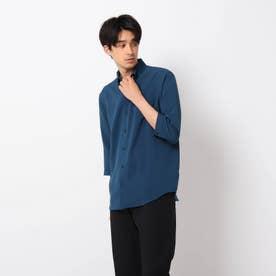 【イージーケア】Reflax(R)/リフラックス7分袖シャツ (ブルー)