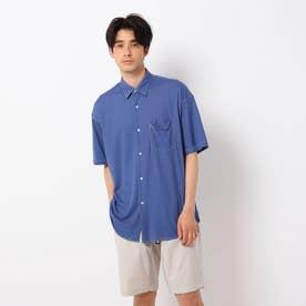 レーヨンナイロン半袖シャツ (ネイビー)