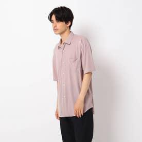 レーヨンナイロン半袖シャツ (ベビーピンク)