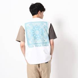 【WEB限定】バンダナバックプリントTシャツ/パパとおそろい/リンクコーデ (ホワイト)