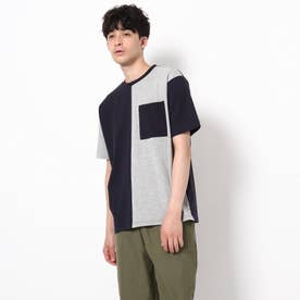 【WEB限定】バイカラーTシャツ/パパとおそろい/リンクコーデ (ネイビー)