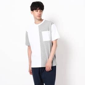 【WEB限定】バイカラーTシャツ/パパとおそろい/リンクコーデ (ホワイト)