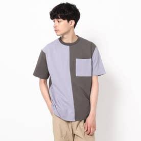 【WEB限定】バイカラーTシャツ/パパとおそろい/リンクコーデ (ライトパープル)