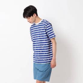 スプラッシュ天竺Tシャツ (ブルー)