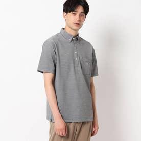 【接触冷感】ボタンダウンポロシャツ (ブラック)