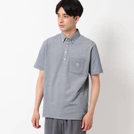 【接触冷感】ボタンダウンポロシャツ (ネイビー)