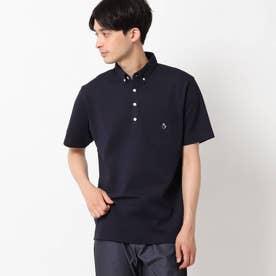【接触冷感】ボタンダウンポロシャツ (ダークネイビー)