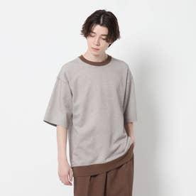【吸水速乾】鹿の子リブTシャツ (ダークブラウン)