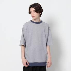 【吸水速乾】鹿の子リブTシャツ (ネイビー)