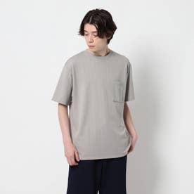 【吸水速乾】ダブルジャガードTシャツ (ベージュ)