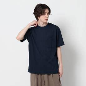 【吸水速乾】ダブルジャガードTシャツ (ネイビー)