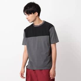 【CORDURA(R)】天竺切り替えTシャツ (チャコールグレー)