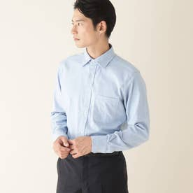 ブラッシュツイルワイドカラーシャツ (ブルー)