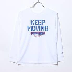 ジュニア バスケットボール 長袖Tシャツ TR-8KW4600TL (ホワイト)