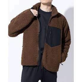SMART シープボアフリースジャケット メンズ フリースジャケット TR-9C1750FJSM (ブラウン)