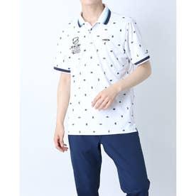 メンズ ゴルフ 半袖シャツ TR-1H1021P (ホワイト)