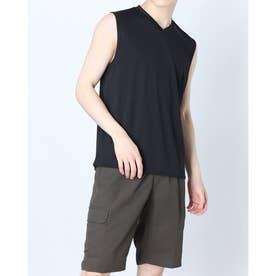 メンズ サッカー/フットサル ノースリーブインナーシャツ TR-8SW1101TSクール (ブラック)