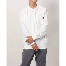メンズ ゴルフ 長袖シャツ WHITE LABEL ストレッチポケットロングTシャツ TR-1L1601C (ホワイト)