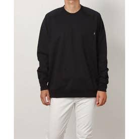 メンズ ゴルフ 長袖シャツ WHITE LABEL ストレッチポケットロングTシャツ TR-1L1601C (ブラック)